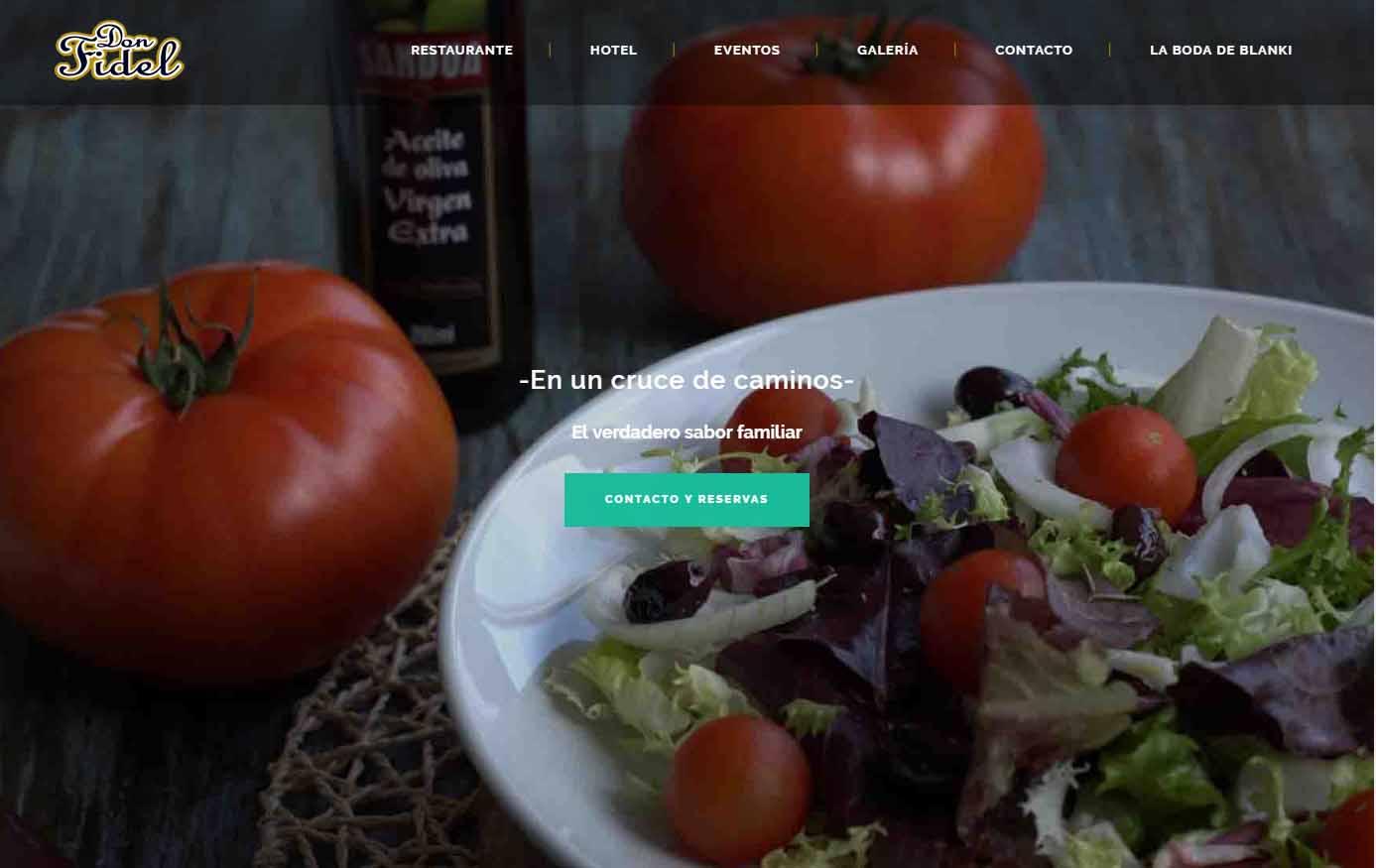 diseño web hotel don fidel