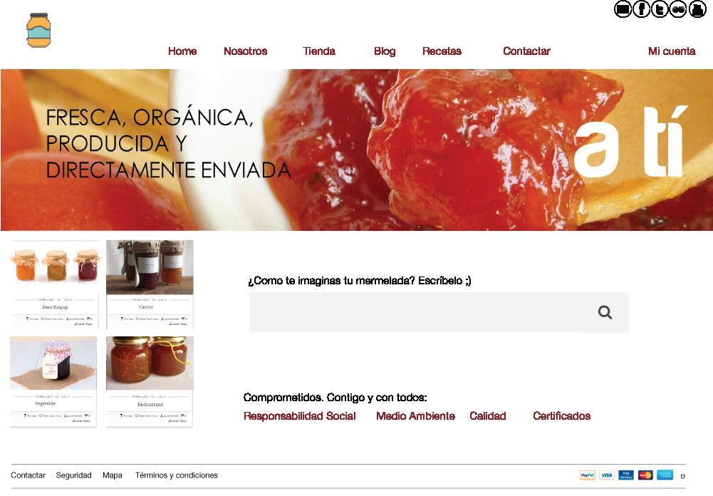Propuesta maqueta tienda on-line
