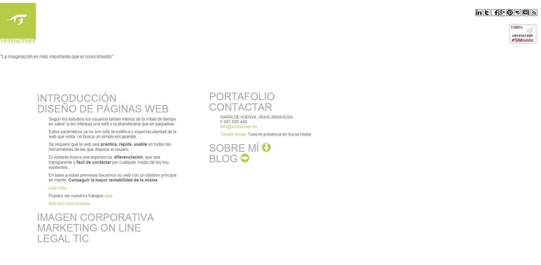 web antigua de verescreer